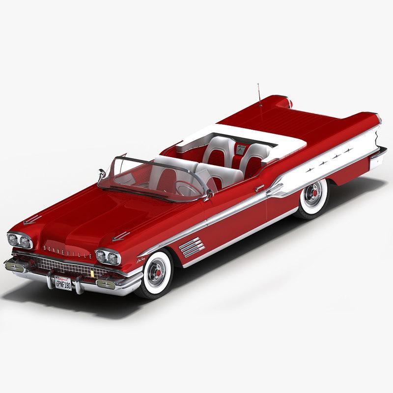 3d pontiac bonneville 1958