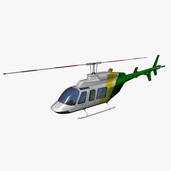 ranger helicopter bell 407 3d 3ds