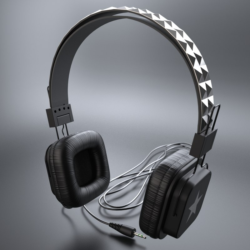 max photoreal headphone studs
