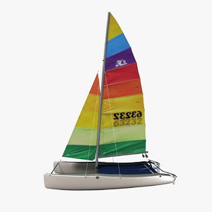 sailing catamaran 3d 3ds