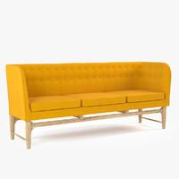 arne jacobsen mayor sofa 3d 3ds