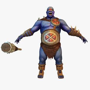 3d cyclops character