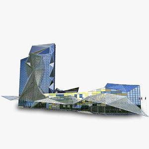skyscraper business center 3d fbx