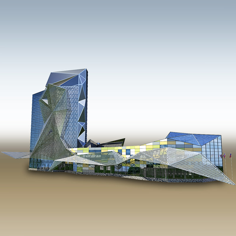 skyscraper business center 3d fbx