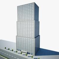 3d scene architectural model