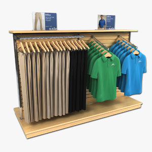 clothing golf polo shirts 3d model