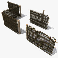 3d old fence
