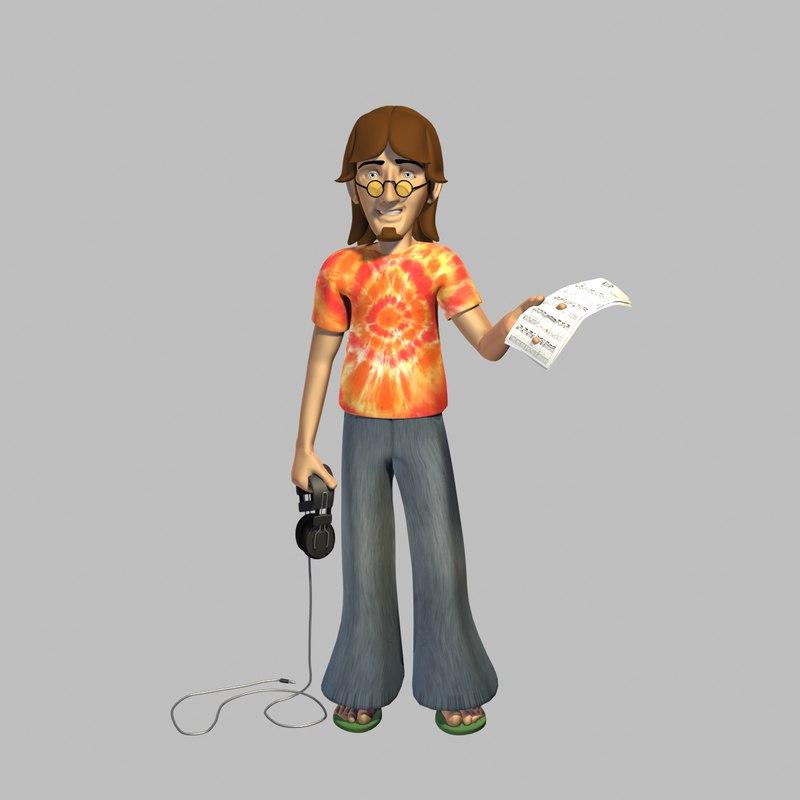 hippy male 3d x