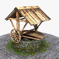 3ds max stone wood structure