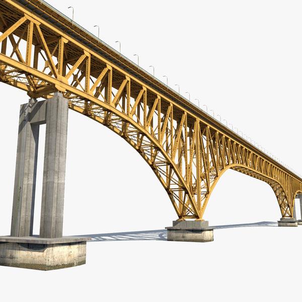 3ds max steel arch bridge s