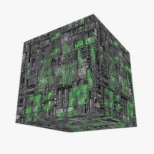 3d box building spaceship model