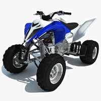 yamaha raptor atv sport bike 3d model
