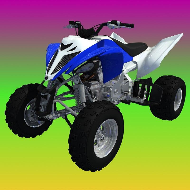 yamaha raptor atv sport bike 3d model
