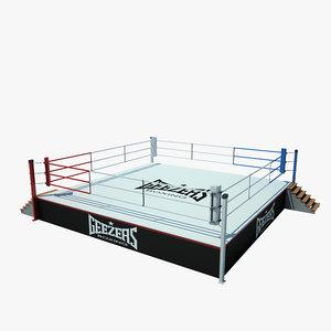 boxing ring 3d max