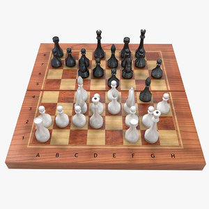 3d model chess set board
