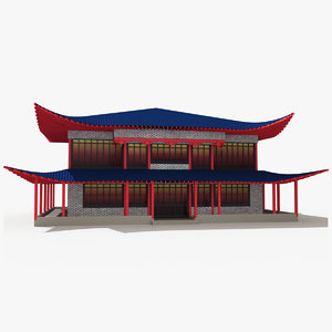3d model china house