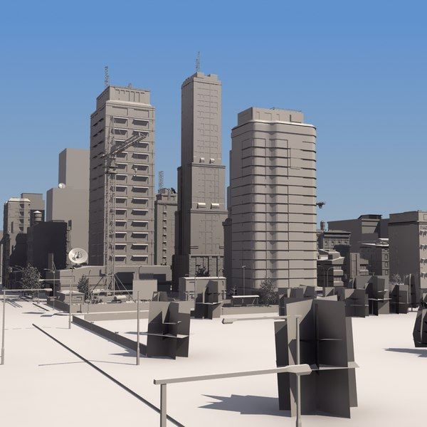 Detailed City Mass Model LW