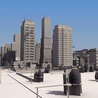 city mass 3d max