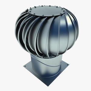 industrial roof turbine 3d max