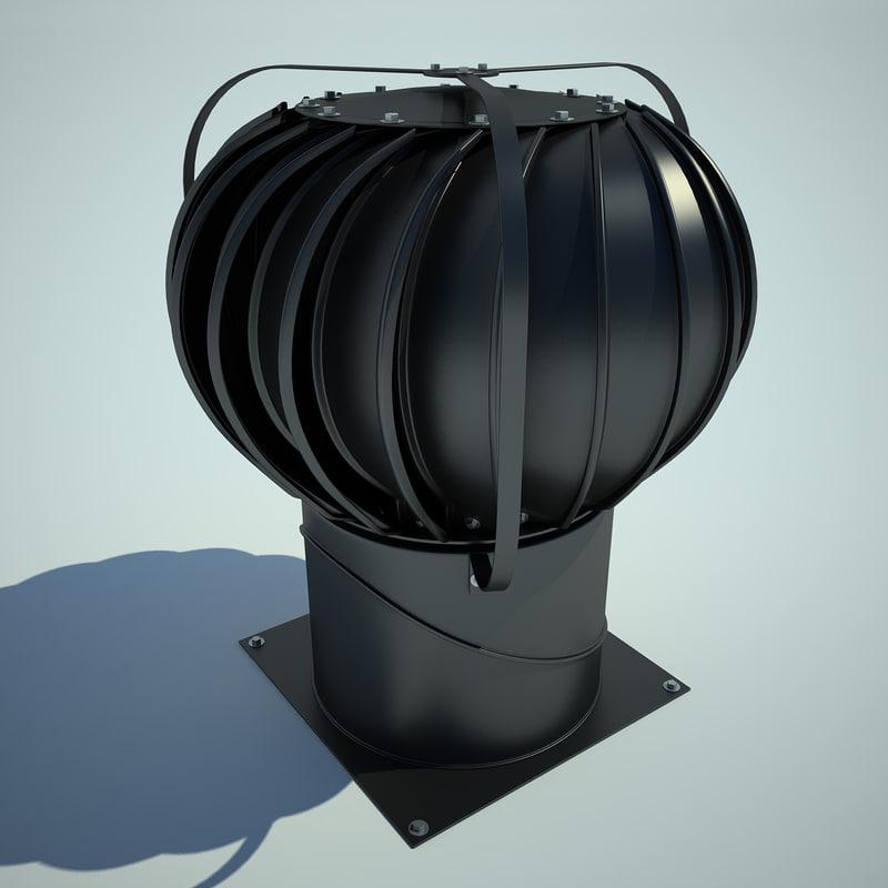 industrial roof turbine 3ds