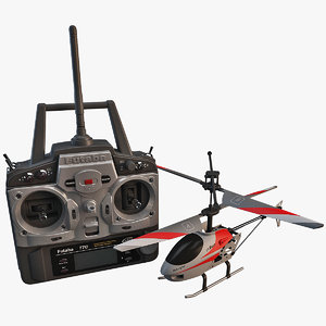 utmost mini helicopter set 3d model