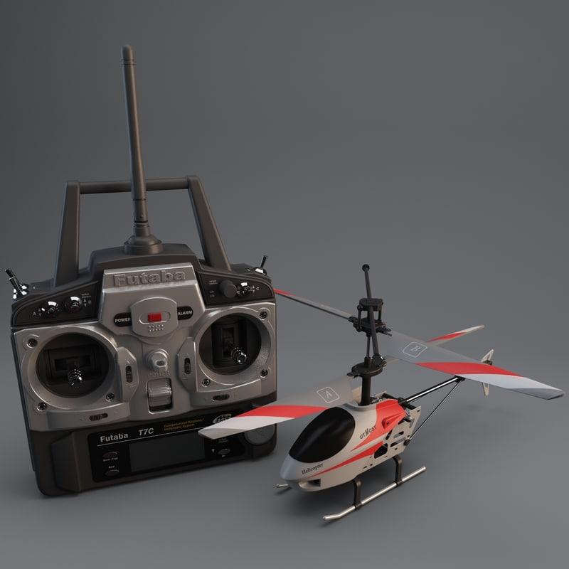 utmost mini helicopter set 3d model