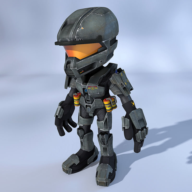max scifi cartoon trooper