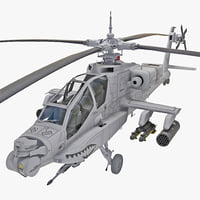 ah-64 apache 2 rigged 3d model