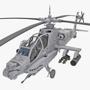 ah-64 apache 2 rigged 3d model
