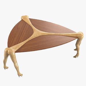 3d model trio erotic design table