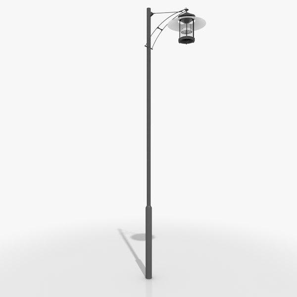 pole luminaire light 3d model