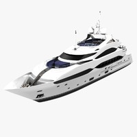 3d 40 sunseeker yacht cruising model