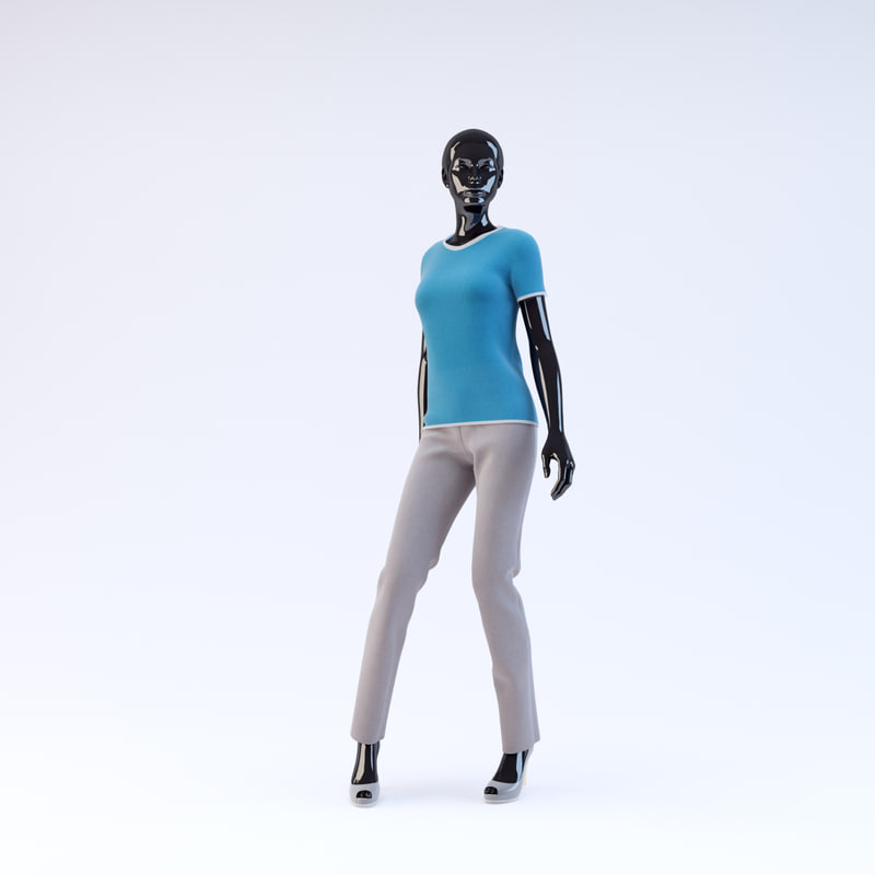 3d model of showroom mannequin 17