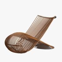 Armchair Wooden 002