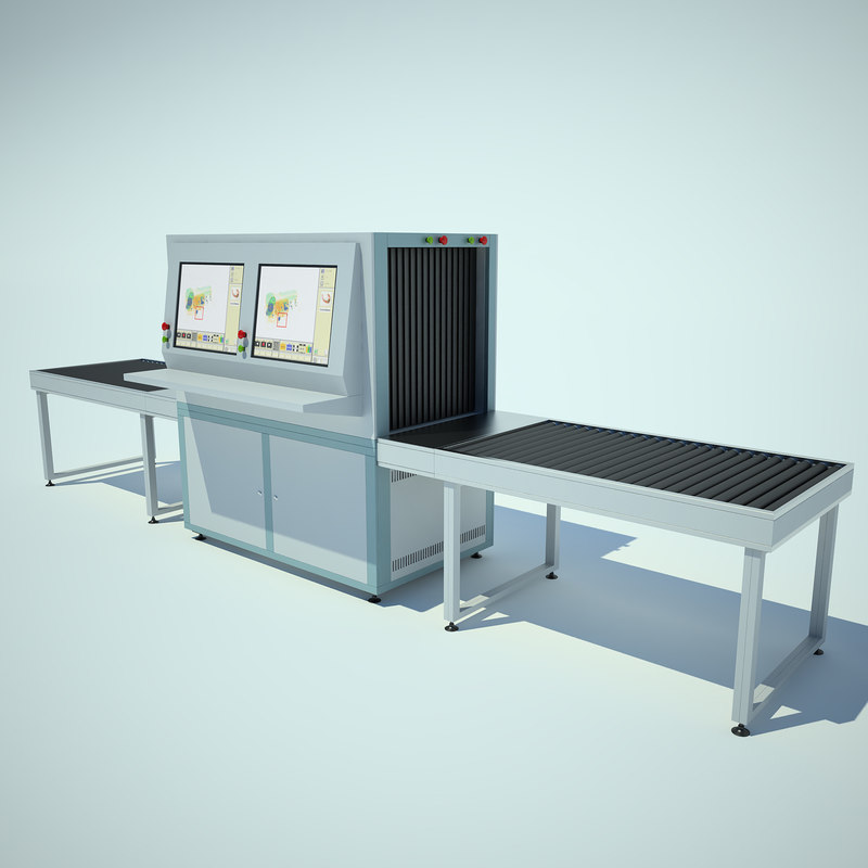 3d model baggage check airport