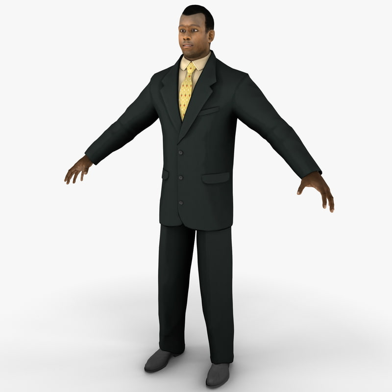 3d businessman 4 rigged man