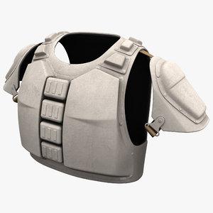 futuristic solider armor 3d model