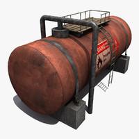 propane tank industrial 3d max