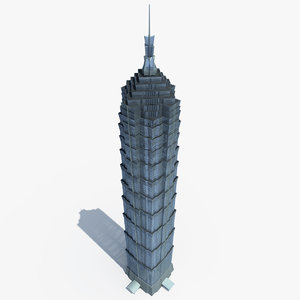 jin mao tower 3d max