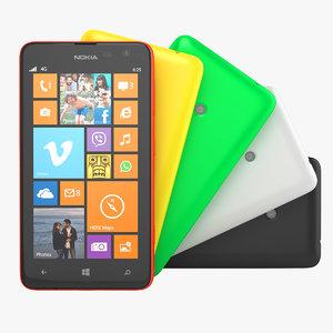 3d model nokia lumia 625 smartphone