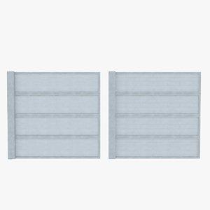 element fence concrete 01 3d max