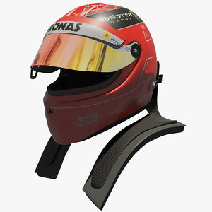 3d model michael schumacher helmet 2012