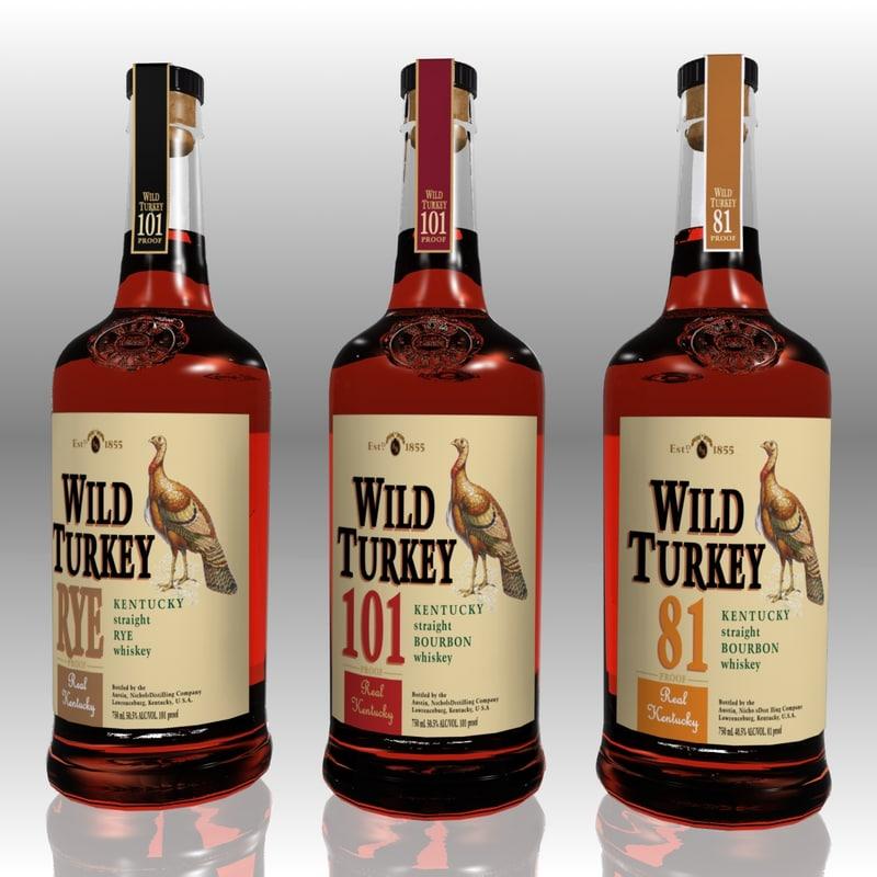 3ds realistic wild turkey set