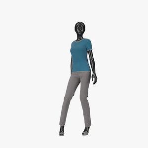 3d model of showroom mannequin 17