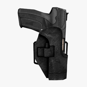 3ds max five-seven semi-automatic pistol holster