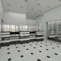 3d max modern shop