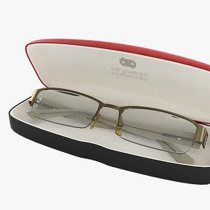 3d model glasses case