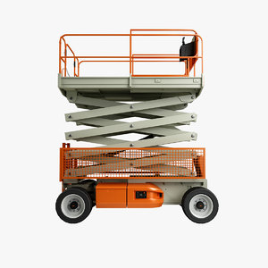 rigged scissor lift 3d max