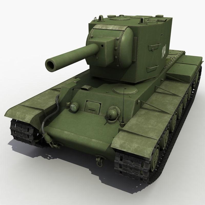 3d kv-2 2 modeled model