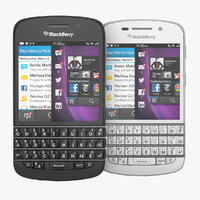 Blackberry Q10 Smartphone Black and White versions